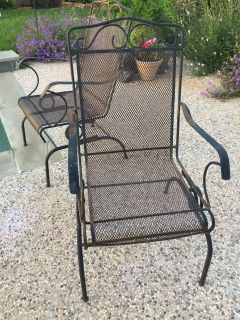 4 wrought iron chairs for scrap metal