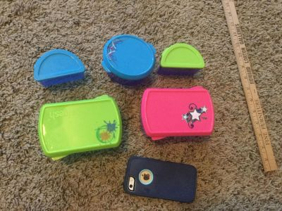 Set of 5 cute lunchbox containers, $3.00 takes all.