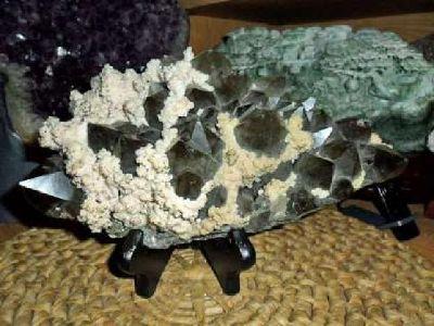 Exceptionally Gorgeous and Beautiful Large Smokey Quartz Gemstone and Dolomite M
