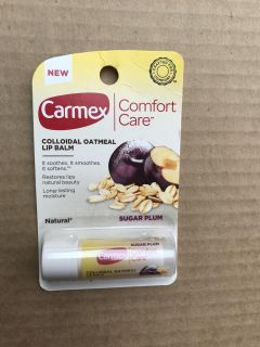 Carmex Comfort Care Colloidal Oatmeal lip Balm- .15 oz - new and unopened- Sugar Plum Cross posted