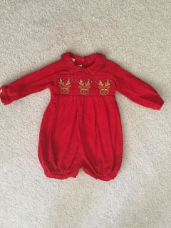 Smocked Reindeer outfit - 6 months