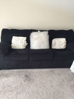 One year old 3-Seater Sofa and Queen size wooden bed with frame for Sale
