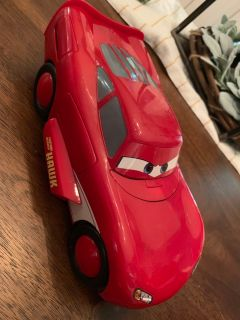 Awesome Lightening McQueen Hawk Transforming Car with Lights and Sounds RARE
