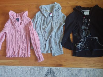 Lot of womens hooded sweaters size medium