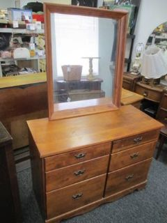 Very Nice Solid Wood Dresser and Mirror - Delivery Available