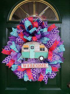Mesh Camper Wreath