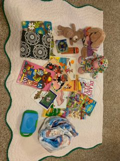 Kids items. Stuffs toys, books, diapers and more