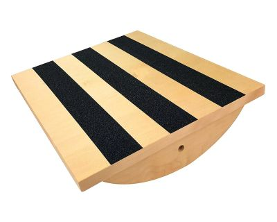 Professional Wooden Balance Board/Calf Stretcher/Foot Rocker Board for Injury Rehabilitation Exercise and Core Strength Training - Ideal Phy