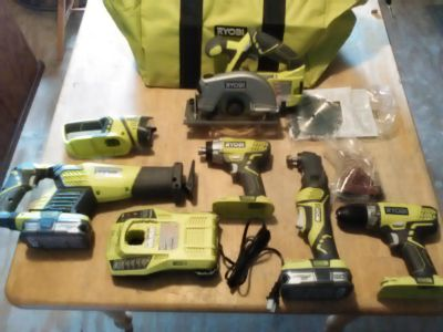 New 18-Volt ONE+ Cordless Lithium Ion 6-Tool Combo Kit With (2) 1.5 Ah Batteries, Charger, And Bag