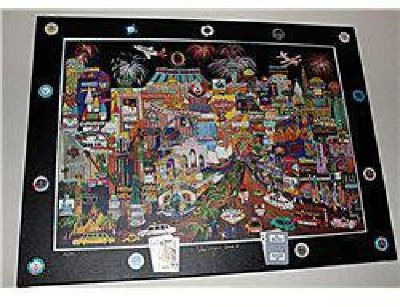 $500 Amazing Painting of everything and anything Las Vegas with real casino cards and
