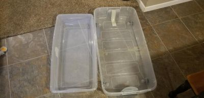 2 under bed storage containers. NO LIDS. FIRST COME