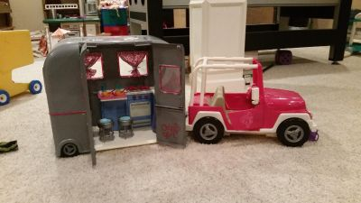 Our Generation jeep and camper. Perfect condition. See additional photos