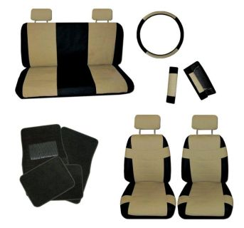 Find Superior Imitation Leather Tan Black Car Seat Covers Type c Black Floor Mats #C motorcycle in Hildale, Utah, US, for US $51.35