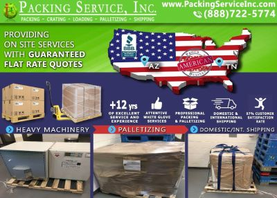 Packing Service, Inc. Wrapping Furniture and Loading International Containers - Tucson, Arizona