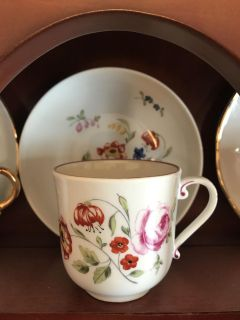 German flower tea cup and saucer