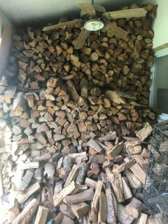 Firewood- dry, stored, chopped red oak