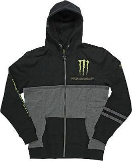 Buy Pro Circuit Monster Covert Premium Hooded Zip Up Fleece Black motorcycle in Holland, Michigan, United States, for US $71.60