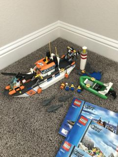 LEGO City Coast Guard ship and accessories, retired kit 60014