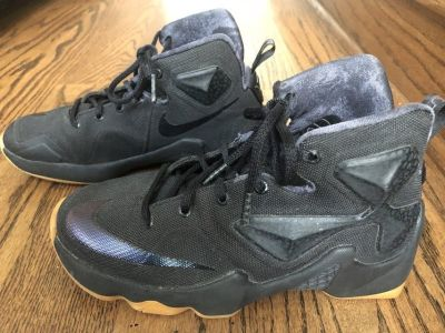 Nike LeBron 13 Black Lion - Size 3.5 Y - Excellent Condition
