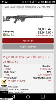 For Sale/Trade: Ruger Precision Rifle 6.5