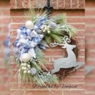 Deer Christmas Wreath