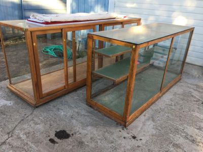 Antique Booth Display Cases