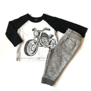 Old Navy Cat & Jack Boy Outfit Motorcycle Tee Shirt Joggers 12-18 Mo