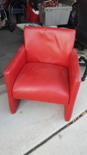 Leather Company custom red chairs