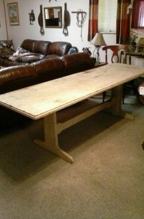 Long 8 Foot Antique Table