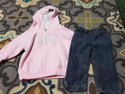 12 mo GAP hoodie and jeans