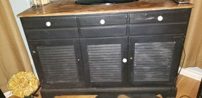 SOLID WOOD CABINET VERY STURDY