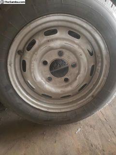 Steel Porsche wheel