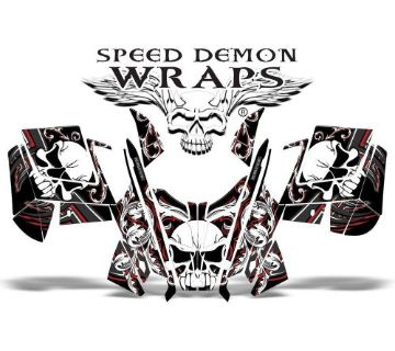 "Sell Polaris Pro RMK ""Skullen"" Sled Skull Graphics Wrap Kit 2011-2015 SDW-1007 Red motorcycle in Post Falls, Idaho, United States, for US $239.99"