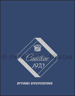 Buy 1970 Cadillac Optional Specifications Book 70 Deville Eldorado Calais Fleetwood motorcycle in Riverside, California, United States, for US $24.00