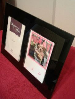 Beautiful Black Glass Picture Frame