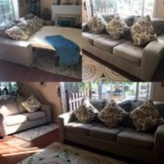 Sofa Bed & Loveseat Gray Couch