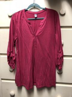 Old Navy pink heather shirt size XL - tag is maternity - I wore as big shirt with leggings $3