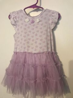 Little Me Cute Dress with Tulle Skirt Girls Size 24 Months $4.00