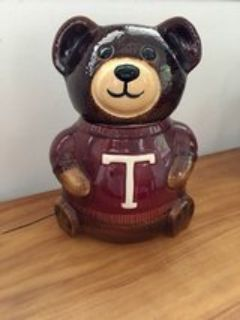 vintage Pottery Teddy Bear Cookie Jar