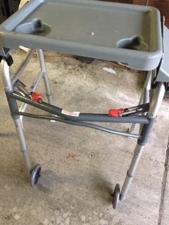 *** 2 WHEEL WALKER with Removable Tray and Front Gliders *** VERY GOOD CONDITION
