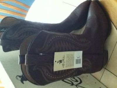 $80 Larry Maham Western Boots Size 10D