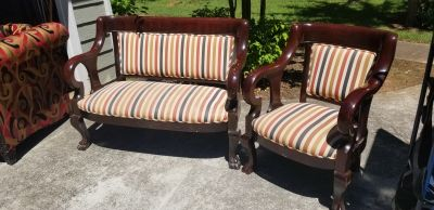 Bench and chair set