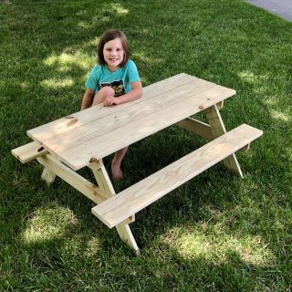 NEW Wooden Kids Picnic Table