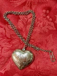 """Valentine's Day Necklace - Puffy 2.5"""" Heart"""
