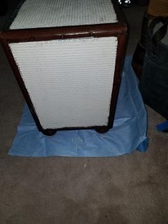 Refurbished woven cabinet, night stand, end table