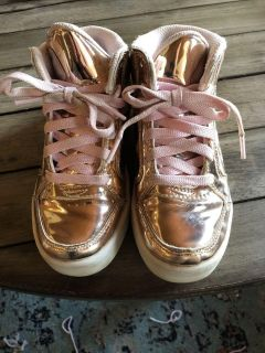 Rose Gold size 13 Skecher High Top Energy Light Sneakers