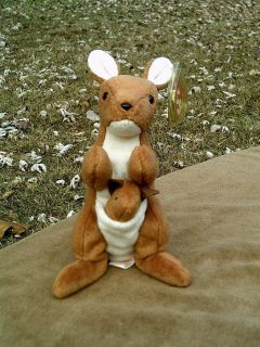 RETIRED RARE Ty Beanie Baby 1996 Pouch Style 4161 With 3 Errors, PVC Pellets
