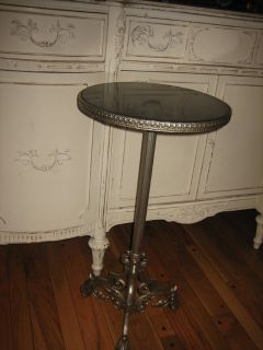 iron plant stand / pedestal table