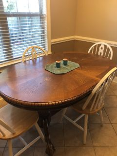 Oak Table-(Chairs Not Available)