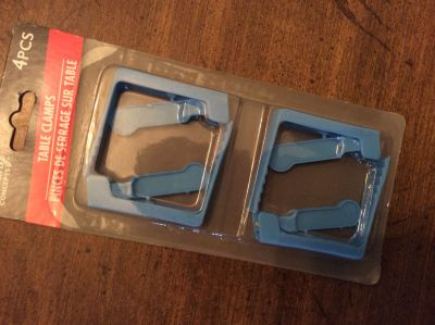 4 Table Clamps. Keeps your outdoor tablecloth in place. Item#1, there are a total of four clamps in each package.